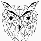 «Buho Geometrico I line Art I Low poly. » de Unpredictable Lab