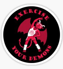 Exercise Your Demons Glossy Sticker