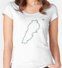 """Lebanon """"Citizen of the Earth"""" large Women's Fitted Scoop T-Shirt"""