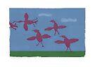 Ducks In Flight by BigFatArts