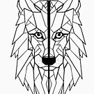«Lobo Geometrico I low poly I line art » de Unpredictable Lab