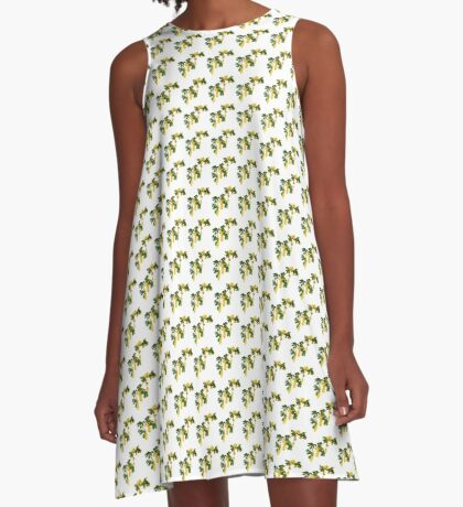 Wattle Fever - White A-Line Dress