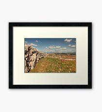 Burren Stone Wall Framed Print