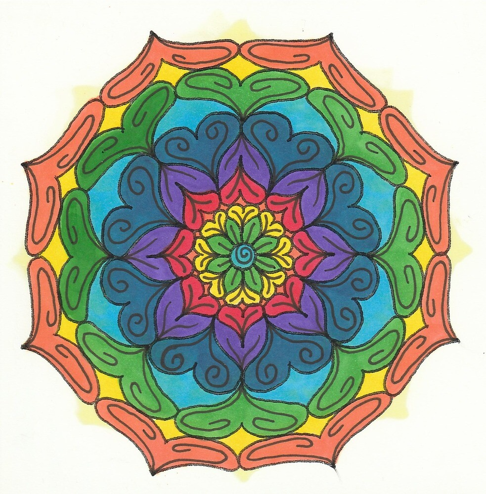 Mandala Drawing #22 Original Design by TAM by Michelle Clifton