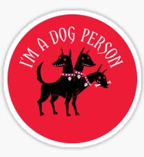 Dog Person Glossy Sticker