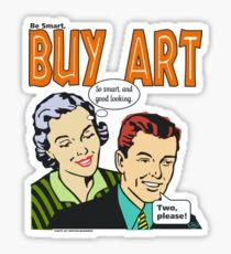 BUY ART!- 50's style Sticker
