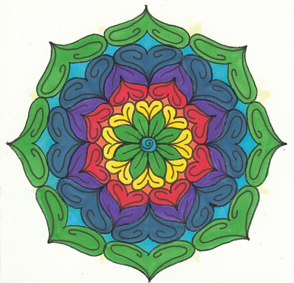 Mandala Drawing #24 Original Design by TAM by Michelle Clifton