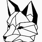«Cara de zorro geometrico I low poly I line art » de Unpredictable Lab