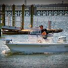 A Man_A Dog_and His Boat by TJ Baccari Photography