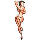 Traditional Laughing Pin Up Tattoo Design by FOREVER TRUE TATTOO