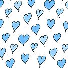 Blue Love Hearts by Charley Zollinger