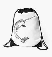 A narwhal named Chantal Drawstring Bag