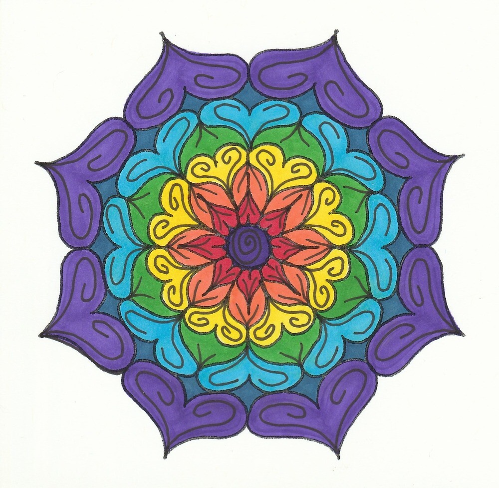 Mandala Drawing #27 Original Design by TAM by Michelle Clifton