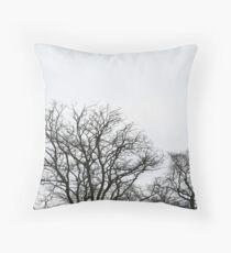Trees - Phoenix Park in winter Throw Pillow