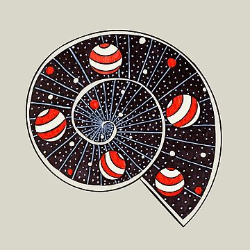 Spiral Galaxy With Beach Ball Planets by azzza