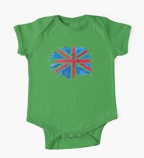 Watercolor Flag of the United Kingdom of Great Britain and Northern Ireland One Piece - Short Sleeve