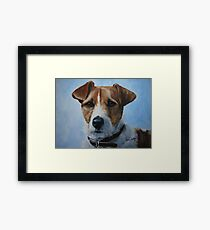 Jack Russell Terrier and Sky Framed Print