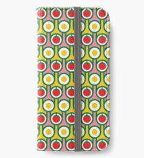 Scandi Midcentury Modern Retro Geometric Eggs Tomatoes Pattern iPhone Wallet/Case/Skin