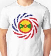 Grenadian American Multinational Patriot Flag Series Unisex T-Shirt