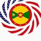 Grenadian American Multinational Patriot Flag Series by Carbon-Fibre Media