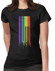 American Flag- Gay Pride Womens Fitted T-Shirt