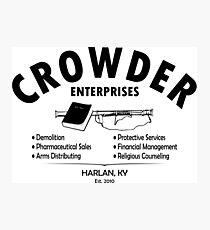 Crowder Enterprises (Black) Photographic Print