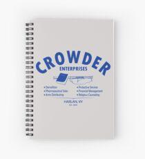 Crowder Enterprises (Blue) Spiral Notebook