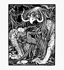 The Demon with the Matted Hair Photographic Print