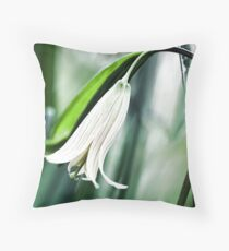 Wild Oats -- (Sessile Bellwort) Throw Pillow
