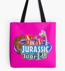 It's a Small Jurassic World (Logo w dinos) Tote Bag