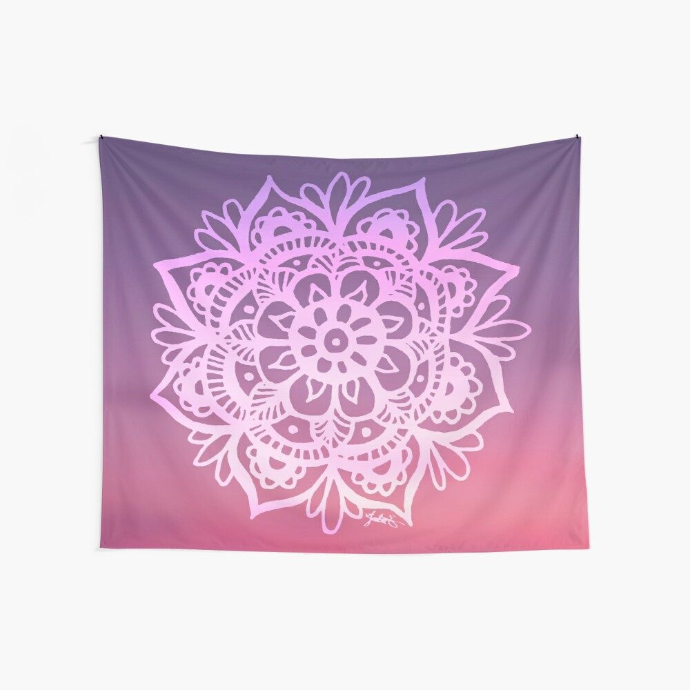Sunset Sky Mandala Wall Tapestry
