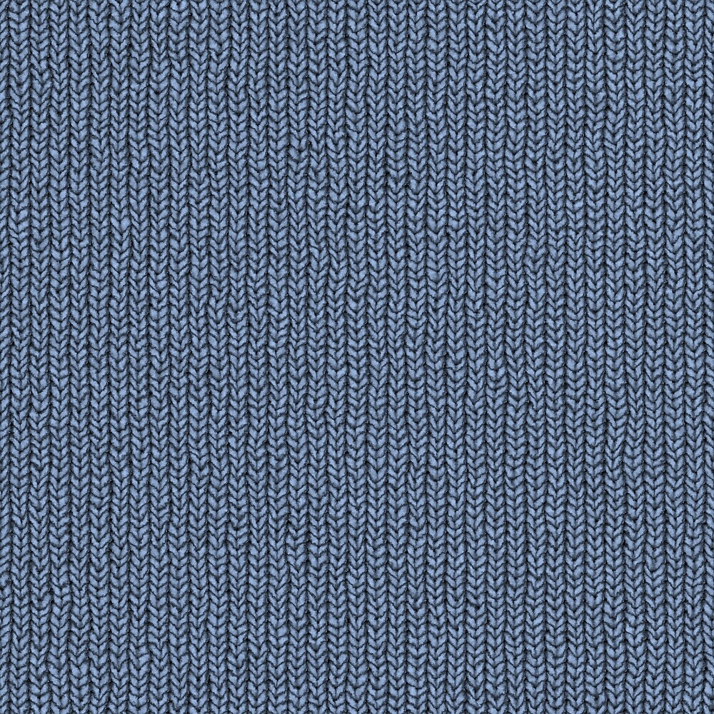 blue knitted by juliepotter