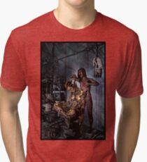 Cyberpunk Painting 058 Tri-blend T-Shirt