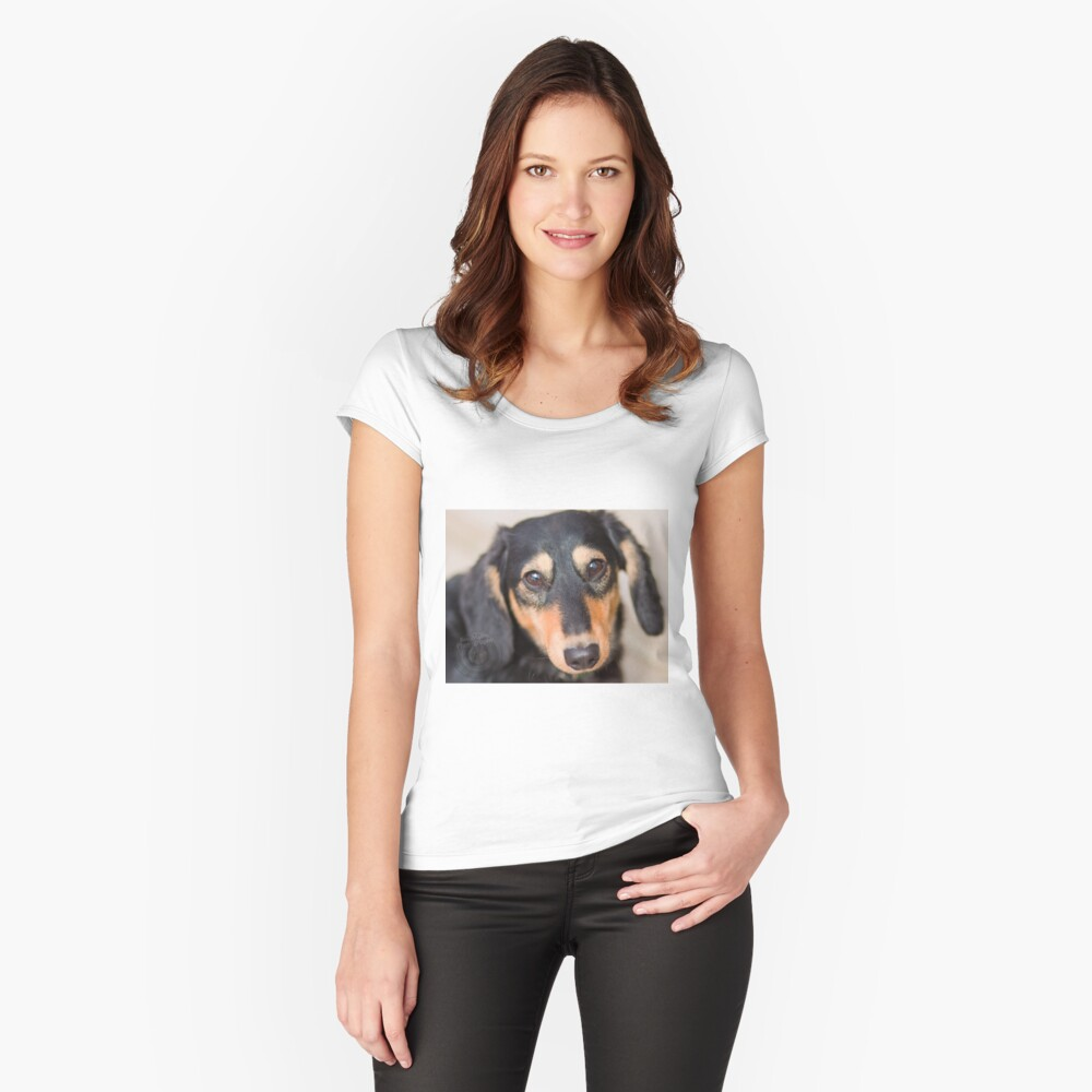 Dog Women's Fitted Scoop T-Shirt Front