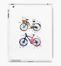 Bicycles, watercolor bicycles iPad Case/Skin