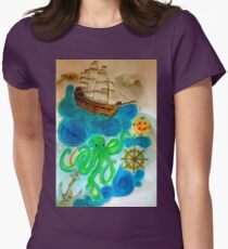 In A Nautical Dream Womens Fitted T-Shirt