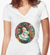 Alice in Wonder Women's Fitted V-Neck T-Shirt