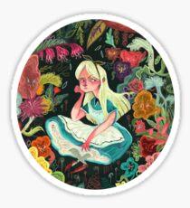 Alice in Wonder Sticker