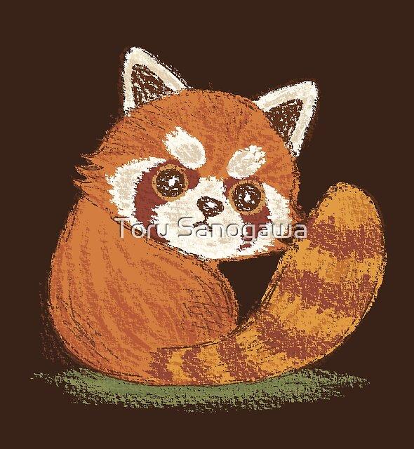 Red Panda look back by Toru Sanogawa