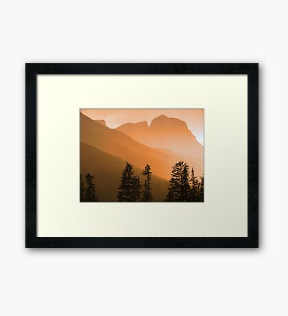 Three Sisters in the rain Framed Print
