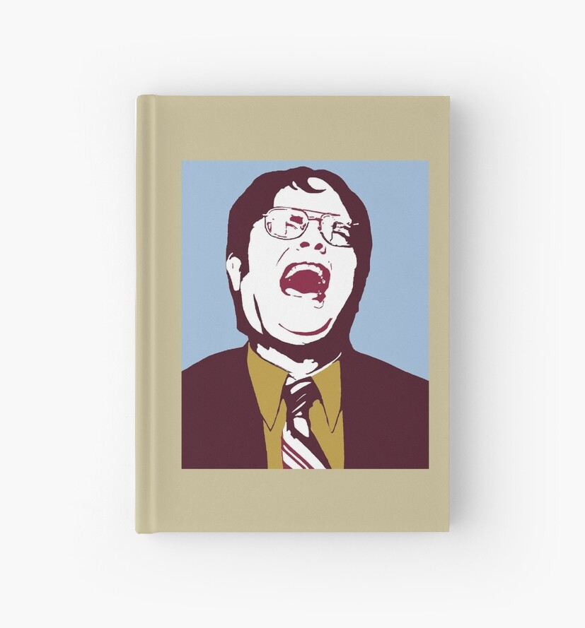 Dwight wraparound design for Mug & Hardcover Journals by pickledbeets