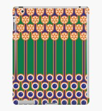 Scandi Midcentury Modern Retro Geometric Blueberries Oranges Stripey Pattern iPad Case/Skin