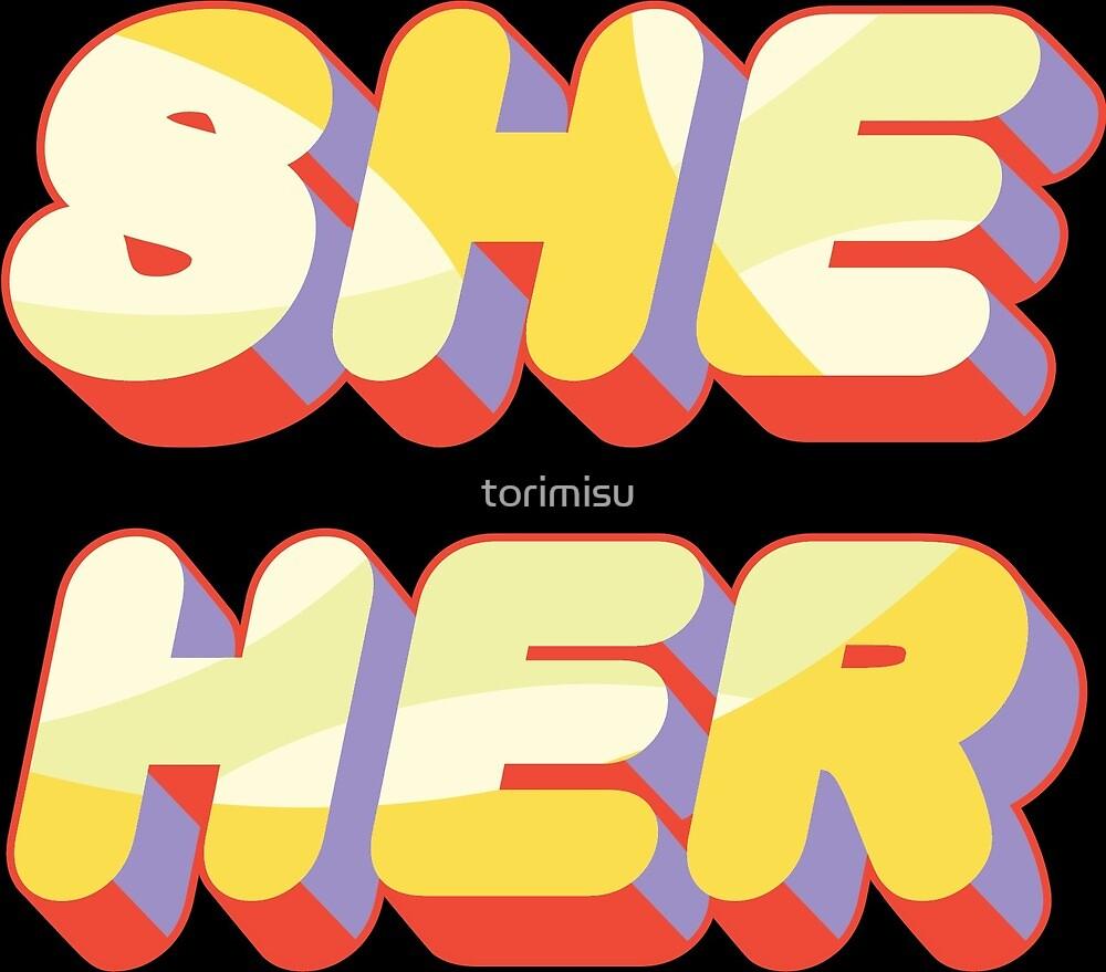 She/Her Pronouns by torimisu