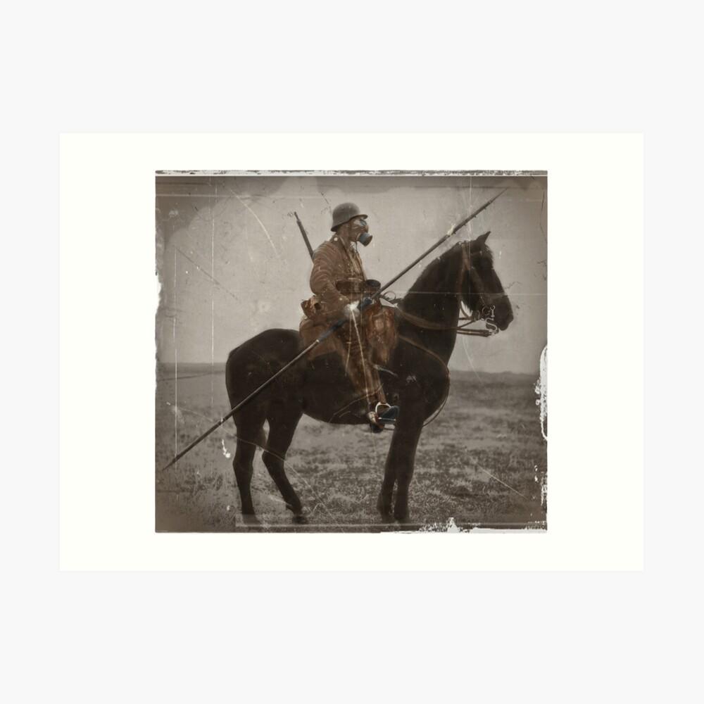 German Lancer on Horseback WWI Art Print