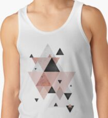 Geometric Compilation in Rose Gold and Blush Pink Tank Top