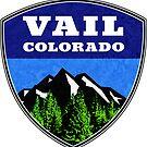 Ski Vail Colorado Skiing Snowboarding by MyHandmadeSigns