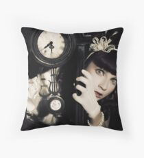 The Porcelain Doll - Second Life Syndrome Throw Pillow