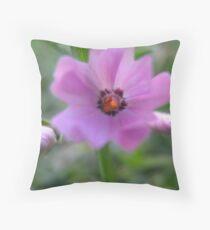 Pink Cherub Throw Pillow