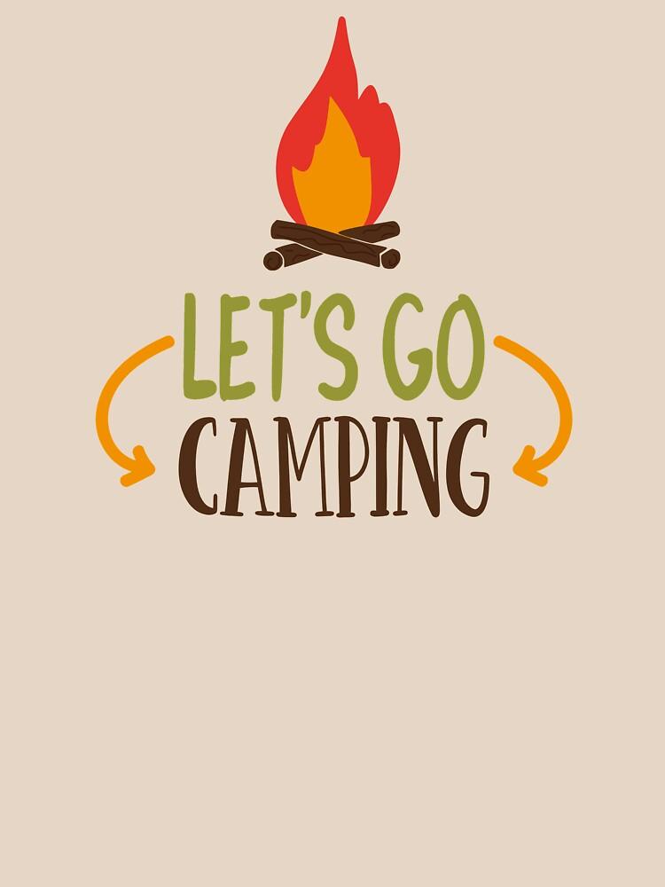 LET'S GO CAMPING - POPULAR CAMP, ADVENTURE DESIGN by NotYourDesign