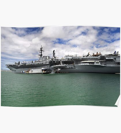 USS Midway aircraft carrier Poster